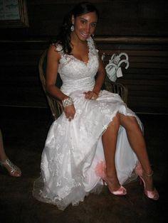 Wedding shoes- pink Christian Louboutin!
