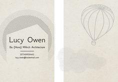 Lucy Owen business card design