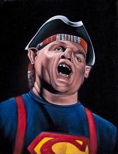 """Bruce White """"Goonies Sloth"""" velvet painting"""