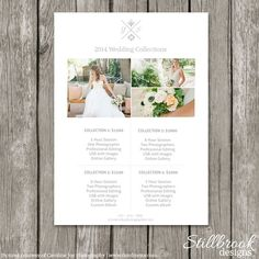 Price Guide Template - Pricing Sheet by Stillbrook Designs on @creativemarket