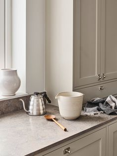 Reflecting the very essence of their brand, Swedish Kitchen Company Nordiska Kök have created the Nordic Kitchen. Inspired by the bright . Swedish Kitchen, Nordic Kitchen, Beige Kitchen, Kitchen Interior, Home Interior Design, Kitchen Design, Interior Colors, Interior Livingroom, Limestone Countertops