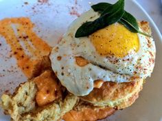 Fried Rocky Jr. Chicken and Biscuit from Acorn (Denver, CO)