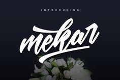 Mekar Script by ShowUp! Typefoundry on @creativemarket