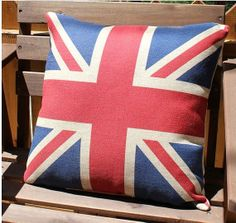 Linen pillow Housewares flag Pillow red and blue  Pillow cover Cushion cover brown Home Decor Throw pillow Decorative pillow on Etsy, $19.90