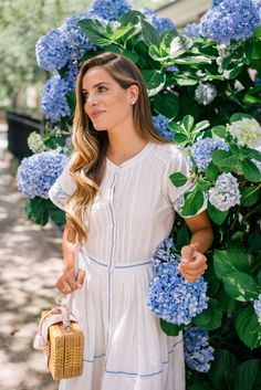Gal Meets Glam A Cotton Dress For Summer - LoveShackFancy dress & Mark Cross bag