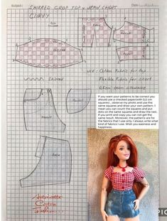 doll dress patterns Fashion Dolls Couture - Unlimited: Country Rock - Made to Move Barbie -CURVY- Fashion Dolls Couture - Unlimited: Country Rock - Made to Move Barbie Sewing Barbie Clothes, Barbie Sewing Patterns, Doll Dress Patterns, Sewing Dolls, Ag Dolls, Girl Dolls, Barbie Style, Boutique Style, Barbie Und Ken