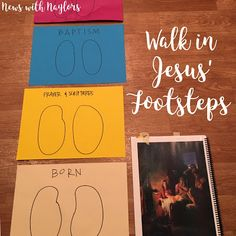 Family Home Evening Lesson For Toddlers And Children Object Lesson Of Walking In Jesus