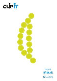 Modèle banane 2 by Clip It - Upcycling