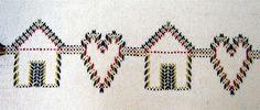 Huck Embroidery / Punto Yugoslavo / Swedish Weaving / Bordado Vagonite. Heart home