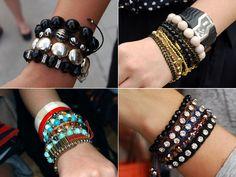 tendência: pulseiras