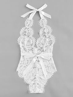 Eyelash Floral Lace Teddy Bodysuit -SheIn(Sheinside) Click Pic for the Hottest Lingerie Online Jolie Lingerie, Lingerie Outfits, Pretty Lingerie, Lingerie Set, Women Lingerie, Seductive Lingerie, Lingerie For Sale, Teddy Bodysuit, Lace Bodysuit