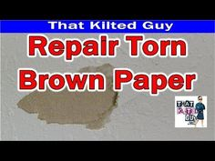 Repair Damaged & Torn Brown Paper on Drywall with my secret product How To Patch Drywall, Drywall Repair, Hanging Drywall, Brown Paper, Wall Treatments, Diy Home Improvement, Home Repair, Diy Wall, Diy Painting