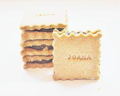 Bolachas de manteiga de amendoim e chocolate