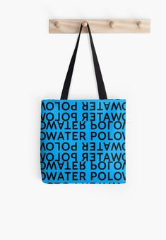 Water Polo Mirror is a typography visual effect. Water Polo, Boro, Poplin Fabric, Cotton Tote Bags, Shopping Bag, Shoulder Strap, Classic T Shirts, Iphone Cases, Typography