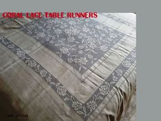 coral lace table runners