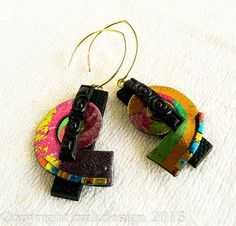 Polymer clay Earrings by RMKDesign on Etsy
