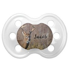 This cute baby pacifier features animal nature photography from the Great Smoky Mountains National Park. Great for the baby - infant of a hunter, hunting guide, outdoors man or woman, sportsman or animal lover.