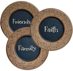 Primitive Faith Family Friends Berry Plates - Pressed wood decorative plates with rustic distressed paint finish. Mustard borders with wispy berry vine ...  sc 1 st  Pinterest & Casio Menu0027s PRW-3500T-7CR Pro Trek Tough Solar Digital Sport Watch ...