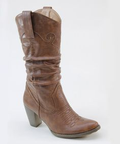 Take a look at this Camel Western Boot by Summer Rio on #zulily today!