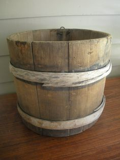 Wooden sap bucket for $19.
