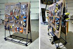 Instead of storing tools in a heavy tool chest, you can make a rolling tool cart that makes for easy auto and home repairs and takes up very little room in your garage.