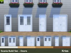 This is the second part of the Scania Build Set bringing scandinavian styled building objects to Sims 4. Consists of 6 different door styles with 4 color variations that match the previously...