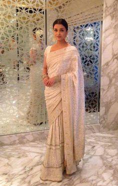 Beautiful white saree                                                                                                                                                                                 More