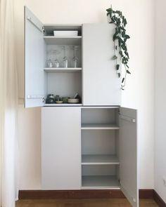 Ikea Hacks, Sideboard, Monochrome, Bookcase, Shelves, Refurbishment, Kitchen, Closet, Home Decor