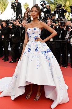 "Model Jourdan Dunn attends ""The Unknown Girl (La Fille Inconnue)"" Premiere during the 69th annual Cannes Film Festival at the Palais des Festivals on May 18, 2016 in Cannes, France."