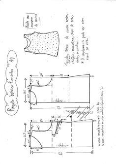 Sewing Tops Visite o post para mais. Blouse Patterns, Clothing Patterns, Sewing Patterns, Sewing Hacks, Sewing Projects, Sewing Blouses, Diy Tops, Make Your Own Clothes, Sewing Studio