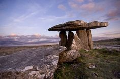 One of Ireland's most famous dolmens, Poulnabrone is located in the heart of the karst landscape of the Burren in County Clare.