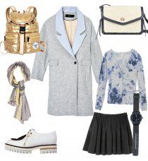 Cosmopolitan, Polyvore, Image, Fashion, Gray Coat, Fall Winter 2015, How To Wear, Womens Fashion, Moda