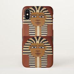 Pharaoh King Natural Brown Black Crochet Print on iPhone X Case -nature diy customize sprecial design