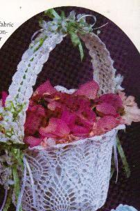 Free Crochet Flower Girl Basket pattern