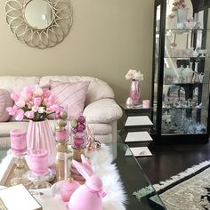 #easterdecor #springdecor #pinkhomedecor #pinkeverything #pinkpop #pinkeverywhere #bunnylove #pinkbunny #glamhomedecor #glamstyledecor #springdecorating #totallyglamdecor #totallyglams #passionforglamdecor #mygucciglamdecor #coffeetablestyling #zgalleriemoment #zgallerie #glamnfabdecor #simplyglamtabledecor #dollartreediy #pinkspring#pinkdetails #homegoodsfinds #gofinding Spring Is Here, Spring Home, Coffee Table Styling, Pink Home Decor, Home Decor Styles, Love Seat, Couch, In This Moment, Table Decorations