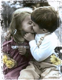 Adorable Little Girl Kissing A Boy Stock Photo Picture And Cute Little Girls, I Miss You, Hug, First Love, Friendship, Bring It On, Stock Photos, Couple Photos, Kissing
