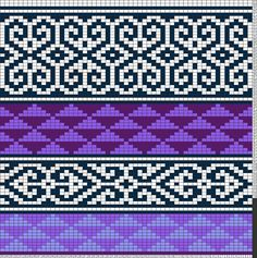 Tricksy Knitter Charts: Purple Graphic by priscilla