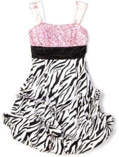 Ruby Rox Kids Girls 4-6x Zebra Pick-Up Dress ~ Definitely want this dress for Kasey!