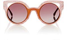 Fendi Cutout-Lens Rounded Cat-Eye Sunglasses at Barneys New York
