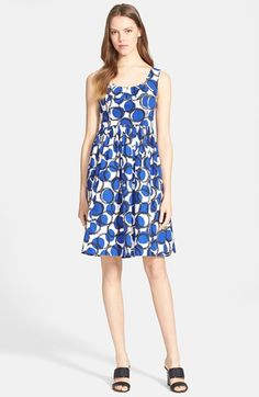 kate spade new york 'stamped dots' fit & flare dress available at #Nordstrom www.MadamPaloozaEmporium.com www.facebook.com/MadamPalooza