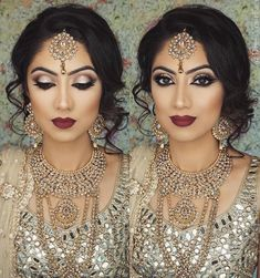 Pakistani Bridal Makeup Make Up Jewellery Ideas Indian Wedding Makeup, Asian Bridal Makeup, Bridal Hair And Makeup, Wedding Hair And Makeup, Hair Makeup, Indian Makeup Looks, Pakistani Bridal Makeup, Indian Eye Makeup, Arabic Makeup