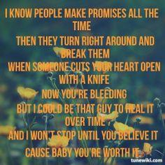 "-- #LyricArt for ""Not a Bad Thing"" by Justin Timberlake"