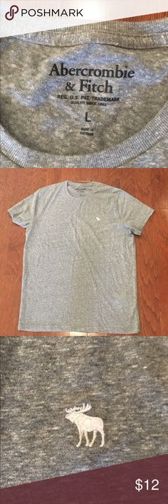 Abercrombie & Fitch Men's L Grey Tee NWOT -never worn Grey Tee shirt Large Abercrombie & Fitch Shirts Tees - Short Sleeve