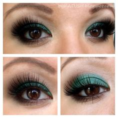 Make-up for brown eyes... Green Eyeshadow