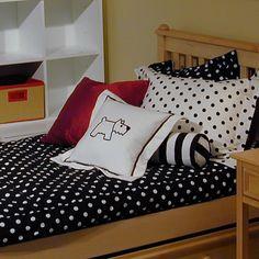 Metro Black White Bunk Bed Hugger Ed Comforter