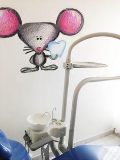 Esta dibujado a mano hada de los dientes, ratón, pegatinas, decoración del Consultorio Dental, dentista regalo, arte Dental, etiqueta de la pared de los cabritos, etiqueta de diente, diente pared decoración decoración de Consultorio Dental es una forma divertida y Linda para decorar