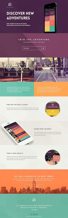 Modular + flat design. Who doesn't like one pagers