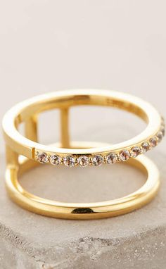 Elizabeth and James Dylan Double Ring #anthrofave