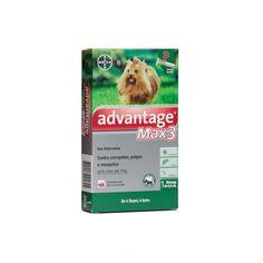 Anti Pulgas e Carrapatos Advantage MAX3 Bayer P para Cães até 4kg 0,4ml #petmeupet #bayer #max3 #antipulga #carrapato