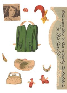 Bette Davis paper doll set from 1942 by Merrill.